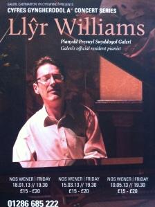 Rhaglen - Llyr Williams